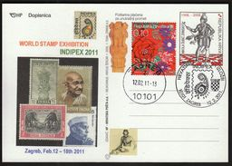 Croatia Zagreb 2011 / Philatelic Exhibition INDIPEX, New Delhi/ Gandhi - Expositions Philatéliques