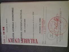 PERMIS DE CONDUIRE INTERNATIONAL DELIVRANCE MAROC CASABLANCA 1961 - Vieux Papiers