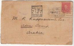 Helsingfors, Helsinki  Finland 1940 Olympics Slogan 1940, Australia To Aden Camp Used Cover, As Scan - Cartas