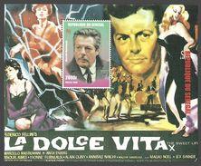 SENEGAL 1998 FILMS ITALIAN CINEMA FELLINI LA DOLCE VITA ANITA EKBERG M/SHEET MNH - Senegal (1960-...)