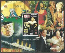 SENEGAL 1998 FILMS CINEMA MONROE TITANIC BILLIARDS IMPERF M/SHEET MNH - Senegal (1960-...)