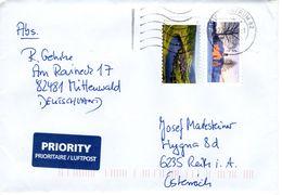 Auslands - Brief Von Briefzentrum 82 Mit 160 Cent Mischfrankatur 2017 - BRD
