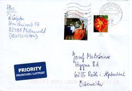 Auslands - Brief Von Briefzentrum 82 Mit 90 Cent Mischfrankatur 2017 - BRD