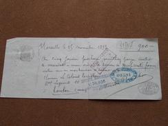 Reçu / Mandat / Ordre Soc. Marseillaise > Guis Gantelme ...... - Anno 1893 Marseille ( Zie/voir Foto's Voor Detail ) ! - Lettres De Change