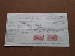 Reçu / Mandat / Ordre Louis BOISSEAU Notaire à Vitteaux - Anno 1943 ( Zie/voir Foto's Voor Detail ) ! - Lettres De Change
