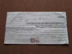 Reçu / Mandat / Ordre Louis BOISSEAU Notaire à Vitteaux - Anno 1933 ( Zie/voir Foto's Voor Detail ) ! - Lettres De Change