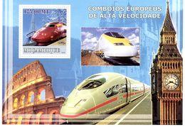 Moçambique  -  Trains De Grande Vitesse  -   1v MS Neuf/Mint MNH - Trains