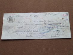Reçu / Mandat / Ordre Guis Gantelme / Oppenheim ........- Anno 1893 Paris ( Zie/voir Foto's Voor Detail ) ! - Lettres De Change