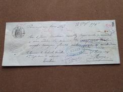 Reçu / Mandat / Ordre Guis Gantelme / Oppenheim ........- Anno 1893 Paris ( Zie/voir Foto's Voor Detail ) ! - Bills Of Exchange