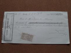 Reçu / Mandat / Ordre Louis DOUSSOT Notaire - Anno 1896 Pouilly-en-Auxois ( Zie/voir Foto's Voor Detail ) ! - Bills Of Exchange