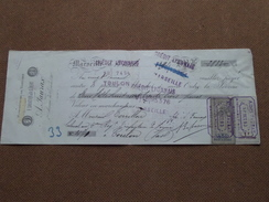 Reçu / Mandat / Ordre F. SABATIER & A. GIBERT ( A. FAURAX ) Anno 1893  ( Zie/voir Foto's Voor Detail ) ! - Bills Of Exchange