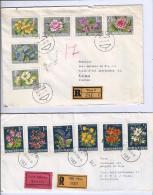 MG53) AUSTRIA -Storia Postale 1964-66  2 Raccondate Viaggiate Flowers - 1961-70 Storia Postale