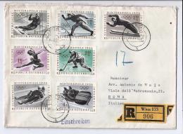 MG54) AUSTRIA -Storia Postale 1963-64 Winterspiele Innsbruck Racc.viaggiata - 1961-70 Storia Postale