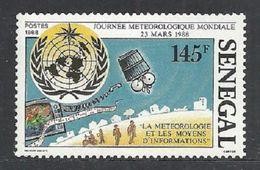 SENEGAL 1988 WORLD METEOROLOGY DAY WMO EMBLEM SET MNH - Senegal (1960-...)