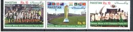 Flags Of 8 Different Countries Pakistan ICC Champions  Strip Of 3 MNH 2017 - Stamps