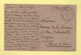 Armee D'Orient - Vaguemestre D'etapes N°2 SP604 - 3-1-1919 - Carte En FM De Rome - 1877-1920: Semi Modern Period