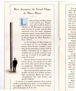 Programme Avril 1927 Bénédiction Inauguration Du GRAND ORGUE église Notre Dame ROUBAIX Organiste Pierre & Edouard PEERS - Programmes