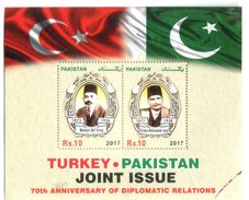 Flags Of Pakistan & Turkey 2017 M/sheet - Stamps