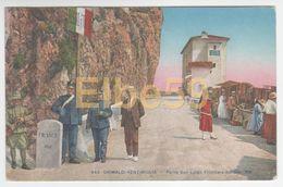 Ventimiglia (IM, Liguria), Ponte San Luigi, Frontiera Italo-francese, Animata, Doganieri, Gendarmi, Scritta - Dogana