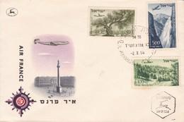 FDC-ISRAEL. MATASELLO JERUSALEM. AIR FRANCE-TBE-BLEUP - FDC