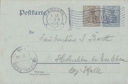 DR GS Flaggenstempel Leipzig 5.11.06 Ankunftsst. KOS Hedersleben (Bz. Halle) 6.11.06 - Briefe U. Dokumente