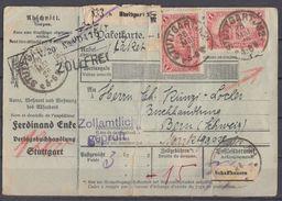 DR Paketkarte Mef Minr.12x A113 Stuttgart 28.5.20 Gel. In Schweiz - Deutschland