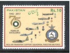 Airplane  Pakistan 2017 Air Force Rs.10 MNH - Airplanes