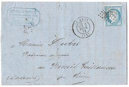LETTRE   Avec N°60 ; 96 G1;   TTB - 1871-1875 Cérès