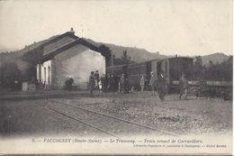 CPA 70 - FAUCOGNEY - Le TRAMWAY - TRAIN VENANT De CORRAVILLERS - Otros Municipios