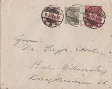 DR Brief Mif Minr.142a,147,199d Bad Nauheim 15.5.22 Geprüft - Deutschland