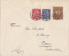 DR Brief Mif Minr.166,168,203 Leipzig 24.9.22 Geprüft Gel. In Schweiz - Deutschland