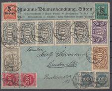 DR Brief Mif Minr.4x 250,5x 252,6x 255,3x 256,262,2x 269,2x 273,277,278 Zittau 11.9.23 - Deutschland