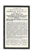 684.HENRICUS BOSSUS Echtg. B. ROSSILLON -Lid Erewacht V.H.Sacrament Des Altaars/3eRegel/St. Fr.Assise -VEULEN 1850/1911 - Devotion Images