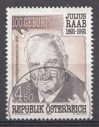 Autriche 1991  Mi.Nr: 2047 Geburtstag Von Julius Raab  Oblitèré / Used / Gebruikt - 1945-.... 2ème République