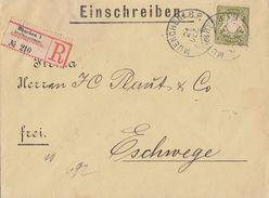 Bayern R-Brief EF Minr.66 München 21.12. Gel. Nach Eschwege - Bayern