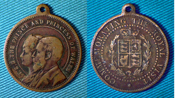 01960 MEDAGLIA MEDAL COMMEMORATIVE THE PRINCE AND THE ORINCESS OF WALES COMMEMORATING THE ROYAL VISIT - Unclassified