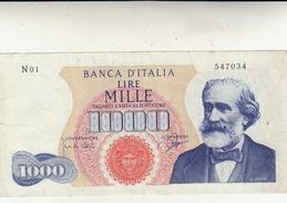 Banconota Lire 1000 Banca D'Italia, 1962 Ottima Conservazione - [ 2] 1946-… : République