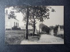 Cpa 91 La Forêt Sainte Croix  Mairie école - France