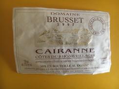 6024 - Domaine Brusset 1997 Cairanne Côtes Du Rhône Villages - Côtes Du Rhône