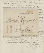 V.TRIEST Pour SEDAN C.d'entrée AUTRICHE Par HUNINGUE Rouge 1823 - ...-1850 Préphilatélie