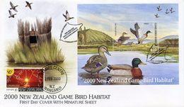 NEW ZEALAND -   2000 NEW ZEALAND GAME AND BIRD HABITAT   FDC1163 - FDC