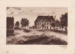 Zeichnung Mametz - Ruine - 1. WK -  11,7*8,6cm - Ca. 1915 (31745) - Albert