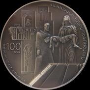 ARMENIA 100 DRAM SILVER COIN PROOF 2015 RARE Centenary Of The Armenian Genocide - Armenia
