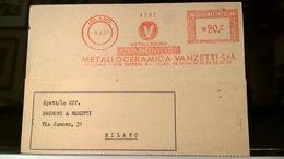 EMA 1957 MILANO METALLO CERAMICA VANZETTI - Affrancature Meccaniche Rosse (EMA)