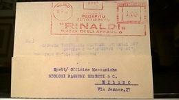 EMA 1946 MILANO RINALDI - Affrancature Meccaniche Rosse (EMA)