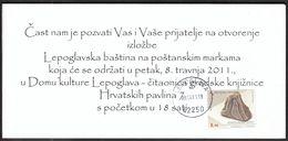 Croatia Lepoglava 2011 / Exhibition Lepoglava Heritage / Ahat / Invitation Card / Paulist Church - Croatie