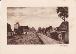 Zeichnung  Pozières - Kirche - Ruinen - 1. WK -  11,7*8,6cm - Ca. 1915 (31749) - Albert