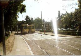 Bruxelles (1180) : Deux Trams 18 En Attente à Leur Terminus Du Dieweg, à Uccle. Photo. - Transport Urbain En Surface
