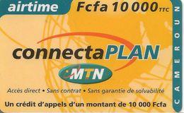 CARTE+ PREPAYEE GSM-MTN-AIRTIME 10000FCFA-CONNECTAPLAN -TBE-RARE - Cameroun