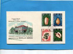 Nouvelles Hébrides- 3 Enveloppes Illustrées FDC-1972-FR-N°326-337 Série Art Oiseaux Coquillages Cote Des Timbres 40.50e - FDC